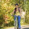 Cyclist Riding On Bike Path — Stock Photo
