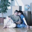 Young couple had just Moved — Stock Photo
