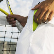 Tennis Player Alone On A Court — Stock Photo