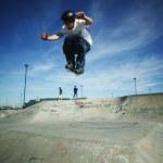 Skater boy training — Stock Photo
