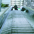 Escalator With man At Top — Stockfoto
