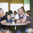Grandfather, Father And Grandsons Visiting Together — Stock Photo