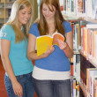 Stock Photo: Two Young Women In Library