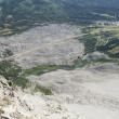 Looking Down From The Mountain Peak At Frank Slide On Turtle Mountain — Stock Photo