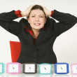 Stock Photo: frustrated businesswoman