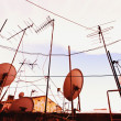 Tv Aerials And Satellite Dishes — Stock Photo