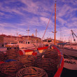 Moored Fishing Boats — Stock Photo