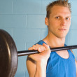 Man Working Out With Weights — Stockfoto