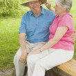 Senior Couple At Park — Stock Photo