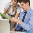 Two Business Colleagues Working Together — Stock Photo #31946073