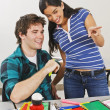 Stock Photo: Two Students In Classroom