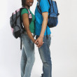Teenage Couple Holding Hands — Stock Photo