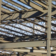 Steel Construction For A Commercial Building — Stock Photo