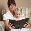 Grandmother Reading The Bible To Her Granddaughter — Stock Photo #31946789
