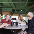 Seniors In Restaurant — Stock Photo