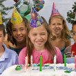 Group Of Children At A Birthday Party — Stock Photo