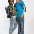 Teenage Couple Standing Close To One Another — Stok fotoğraf