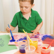 Young Boy Drawing A Picture — Stock Photo