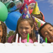 Group Of Children At Birthday Party — Stock Photo