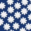 Stylized Snowflakes With Blue Background — Stockfoto