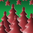 Stylized Christmas Trees — Stock Photo