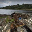 Stock Photo: Old, Weathered Boat On Shore