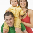 Parents And Their Young Son — Stockfoto