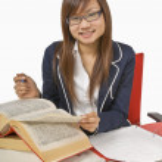 Teenage Student Doing Homework — Stock Photo