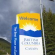 Sign Saying 'Welcome To British Columbia'. British Columbia, Canada — Stock Photo
