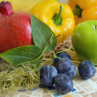Mixed Fruit And Vegetables — Stockfoto