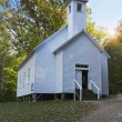 Stock Photo: White Church Building