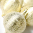 Gold Christmas Ornaments — Stock Photo