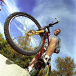 Man With Mountain Bike — Stock Photo