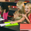 Stock Photo: Female College Students In Classroom