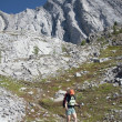 Female Hiker On Rocky Trail, Kananaskis Country, Alberta, Canada — Stock Photo #31949351