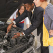 Man Helping Women With Their Car — Stock Photo
