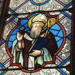 Stained Glass Window Decorated With A Religious Figure — Stock Photo