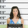Mug Shot Of Woman — Stock Photo