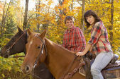 Couple Going Horseback Riding — Stock Photo