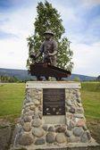 Monument Of Miner George Washington Carmack — Stock Photo