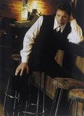 Man On Barstool — Foto de Stock