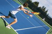 Two Tennis Players Competing — Stock Photo