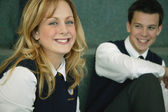 Classmates In Uniform — Stock Photo