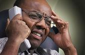 Business telephone conversation — Stock Photo