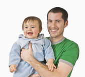 Father Holding His Young Son — Stock Photo