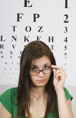 Woman Having Eye Test — Stock Photo