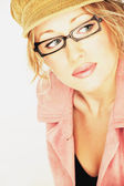 Beautiful Woman In Glasses — Stock Photo