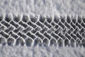 Tire Track In Snow, Quebec, Canada — Stock Photo