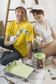 Couple Preparing To Paint Wall — Stock Photo