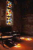 Sunlight Through Stained Glass Windows — 图库照片